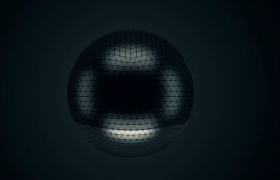 球形科技动态徽标展现模板