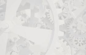白色齒輪標志動畫AE模板