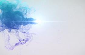多彩烟雾特效logo开场演示动画会声会影模板