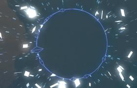 未来粒子动感科技音乐开场背景视频