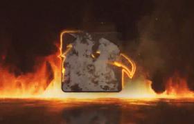 火焰徽��LOGO展示AE�赢�模板