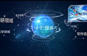 科技连线图文动态展示宣传片AE模板
