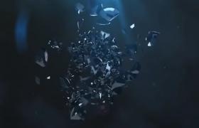 延时石块碎片动画特效logo演示AE模板