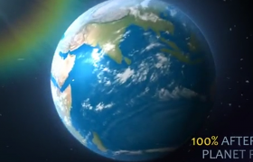星球旋轉特效動畫簡易AE模板