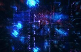多彩CPU科技演示logo�赢�AE模板