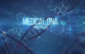 DNA特效背景现代科学动态展示AE模板