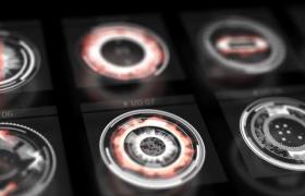 二十九组科技动感界面HUD元素AE动画模板