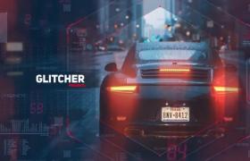 玻璃质感未来科技场景介绍宣传图片AE动画模板