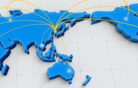 三维地图点线链接动画图片展示AE模板