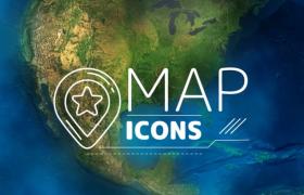 创意地球天气图标特效动画AE模板
