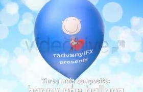 童真卡通气球动画AE模板适合儿童节情人节等节目AE模板