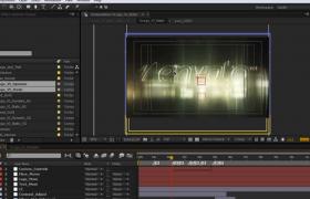 模糊的光影特效演绎优美大气的徽标LOGO动画AE模板