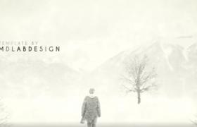 沧桑感动的灰白记忆图文展示转场动画AE模板