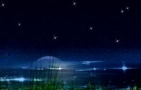 唯美海上升明月天涯共此时背景视频素材