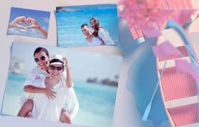 唯美小清新的婚礼照片相册开场片头视频AE模板