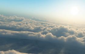 ?高空云层不停翻滚的高清视频实拍素材