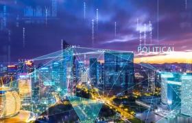 科学连线数字科技城市宣传视频AE片头模板