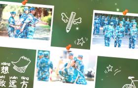 温馨致青春视频青春纪念相册转场演示AE视频模板