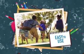 开学季校园主题图片展示AE模板