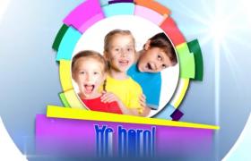 儿童类型的回忆相册展示AE模板