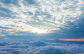 壮观的云海日出高清实拍视频