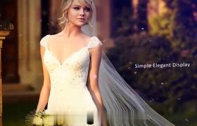温馨浪漫的婚礼片场开头相册AE展示模板