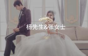 朦胧浪漫的风格婚礼相册展示AE模板