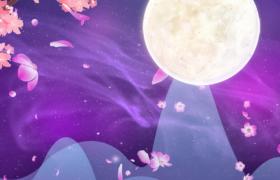 唯美闪闪发光的中秋节舞台背景视频素材