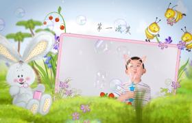 小?清新大自然宝贝儿童相册展示AE模板