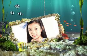 炫丽的海底世界儿童相册展示AE模板