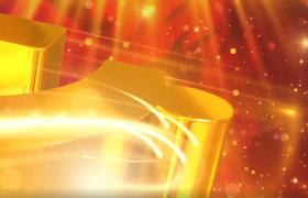 金色建国庆典徽标演示动画视频素材