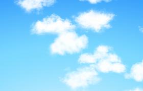 实拍白云朵朵视频素材下载欣赏