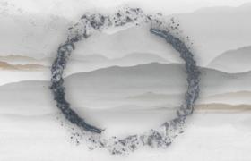 中国风的水墨粒子旋转片头视频AE模板