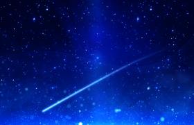 流星划过群星密布的星空视频素材