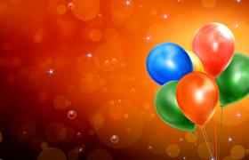 6種色彩的氣球光圈泡泡動態視頻素材