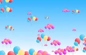 五彩繽紛的氣球?漫天飛舞視頻素材免費下載