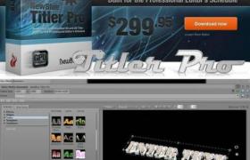 破解+安裝一體的字幕制作插件NewBlueFX Titler 5.0下載-專業字幕制作插件