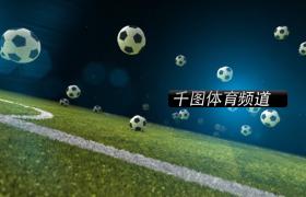 足球在足球場上不斷的跳動視頻素材