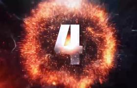 震撼大气的星火粒子5秒倒计时视频素材