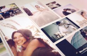 温馨浪漫的婚礼照片相册展示AE模板