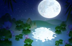 唯美静谧的夜晚荷塘月色视频优德w88中文版免费下载