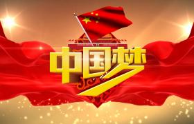 优雅大气金色的3D中国梦舞台背景视频素材