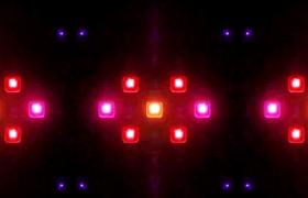 五颜六色的块状灯光闪耀酒吧夜场视频素材