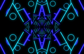 炫酷的几何图形灯光快速变换闪耀视频素材