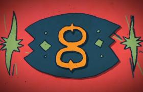 全面屏创意动画10秒倒计时视频素材