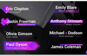 大气的紫色基本图形字幕标题汇集展示PR模板