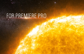 唯美星空下發光發熱的太陽電影片頭PR模板