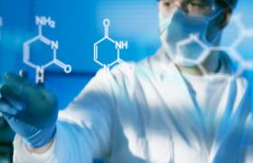 科技医疗上的分子结构视频素材免费下载