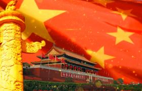 航拍祖国繁华昌盛的视频素材免费下载