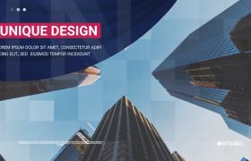 创意的城市商务介绍图文演示PR片头视频模板